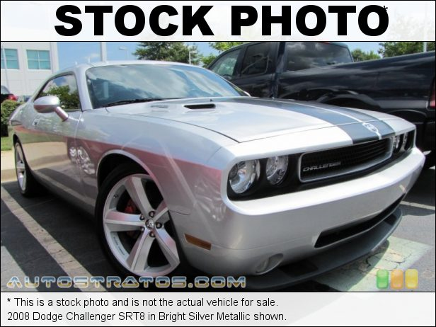 Stock photo for this 2008 Dodge Challenger SRT8 6.1 Liter SRT HEMI OHV 16-Valve V8 5 Speed Automatic