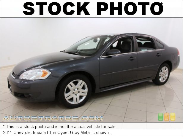 Stock photo for this 2011 Chevrolet Impala LT 3.5 Liter OHV 12-Valve Flex-Fuel V6 4 Speed Automatic