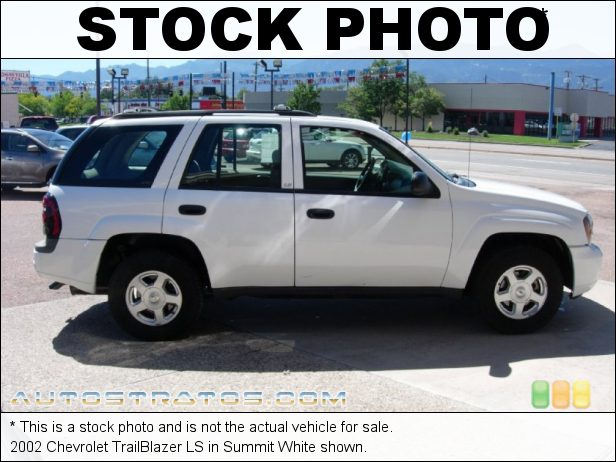 Stock photo for this 2002 Chevrolet TrailBlazer LTZ 4.2 Liter DOHC 24-Valve Vortec Inline 6 Cylinder 4 Speed Automatic