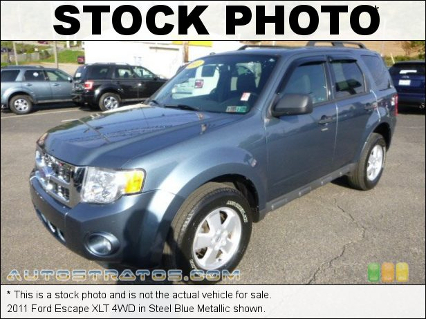 Stock photo for this 2011 Ford Escape XLT 4WD 2.5 Liter DOHC 16-Valve Duratec 4 Cylinder 6 Speed Automatic