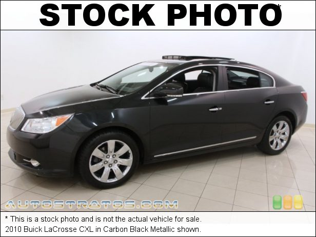 Stock photo for this 2010 Buick LaCrosse CXL 3.0 Liter SIDI DOHC 24-Valve VVT V6 6 Speed Automatic