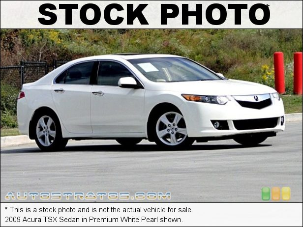 Stock photo for this 2009 Acura TSX Sedan 2.4 Liter DOHC 16-Valve i-VTEC 4 Cylinder 5 Speed Sequential SportShift Automatic