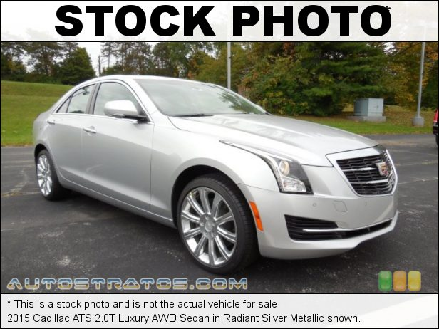 Stock photo for this 2015 Cadillac ATS 2.0T Luxury AWD Sedan 2.0 Liter DI Turbocharged DOHC 16-Valve VVT 4 Cylinder 6 Speed Automatic