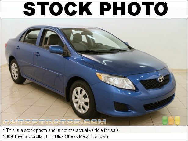 Stock photo for this 2009 Toyota Corolla LE 1.8 Liter DOHC 16-Valve VVT-i Inline 4 Cylinder 4 Speed Automatic