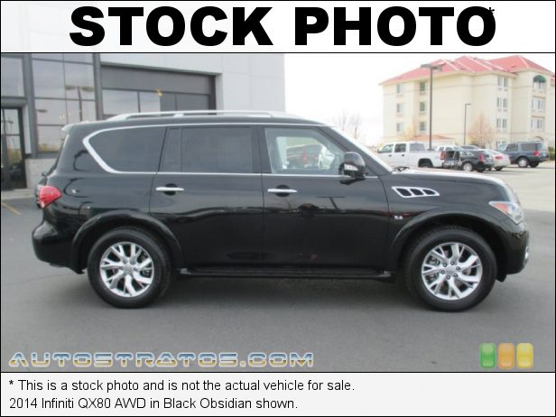 Stock photo for this 2014 Infiniti QX80 AWD 5.6 Liter DI DOHC 32-Valve VVEL CVTCS V8 7 Speed Automatic