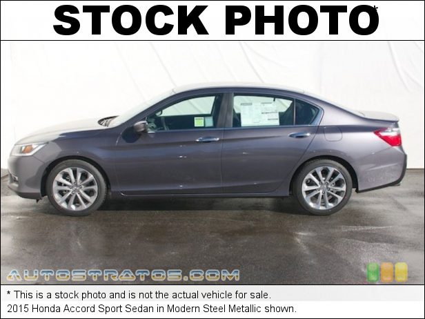 Stock photo for this 2015 Honda Accord Sport Sedan 2.4 Liter DI DOHC 16-Valve i-VTEC 4 Cylinder 6 Speed Manual