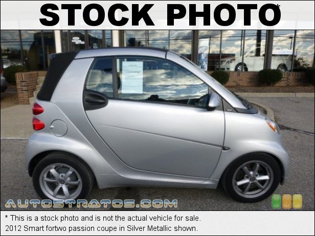 Stock photo for this 2012 Smart fortwo passion 1.0 Liter DOHC 12-Valve 3 Cylinder 5 Speed smartshift Automatic