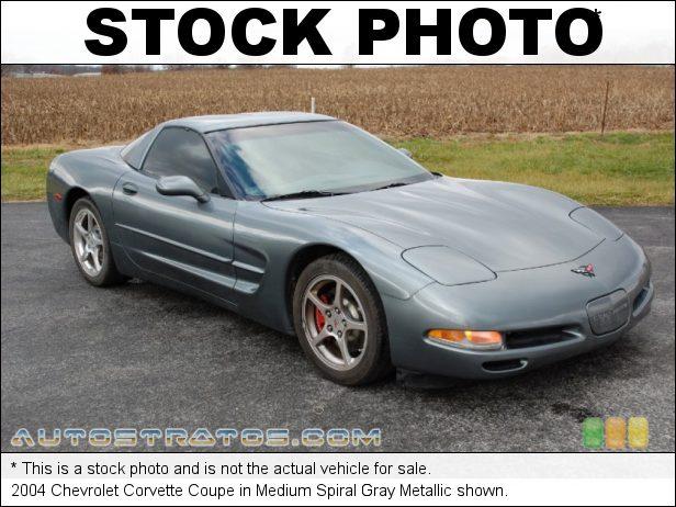 Stock photo for this 2004 Chevrolet Corvette Coupe 5.7 Liter OHV 16-Valve LS1 V8 6 Speed Manual