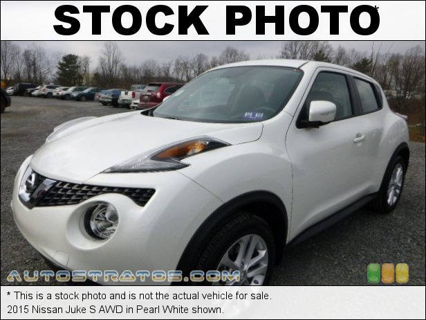 Stock photo for this 2015 Nissan Juke AWD 1.6 Liter DIG Turbocharged DOHC 16-Valve CVTCS 4 Cylinder Xtronic CVT Automatic